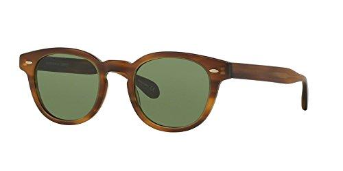 Oliver Peoples 5036 112252 Light Havana Sheldrake Round Sunglasses Lens - Peoples Oliver Sunglasses Sheldrake