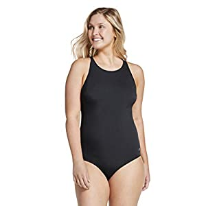 Speedo Women's Swimsuit One Piece High Neck Contemporary Cut
