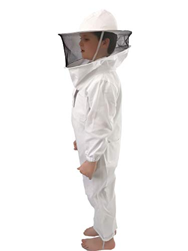 (Honey Lake Kids Beekeeping Suit, Beekeeping Suit with Self Supporting Fencing Veil Hood for Children (4.6 FT Height))