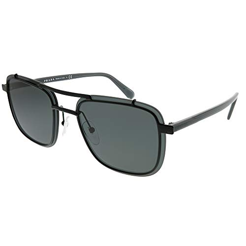 Prada PR59US 1AB5S0 Black PR59US Square Sunglasses Lens Category 3 Size ()