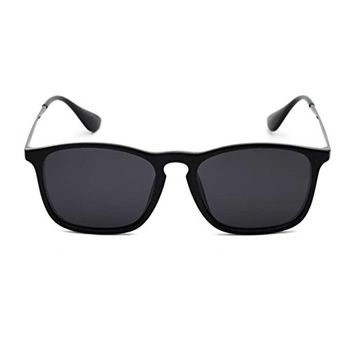 NUBAO Polarized Sunglasses Men And Women Hipsters Drive Sunglasses Retro Drivers Square Driving Sunglasses Outdoor Travel Beach Break Essential (Color : Black) (Was Sonnenbrille)