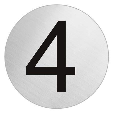 Amazon.com: Puerta número I acero inoxidable I autoadhesiva ...