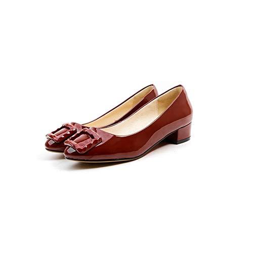 Femme Bordeaux Compensées 36 Rouge BalaMasa Sandales 5 APL11059 qxgvtE4