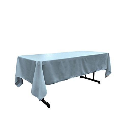 oplin Rectangular Tablecloth, 60 by 102-Inch, Blue light ()