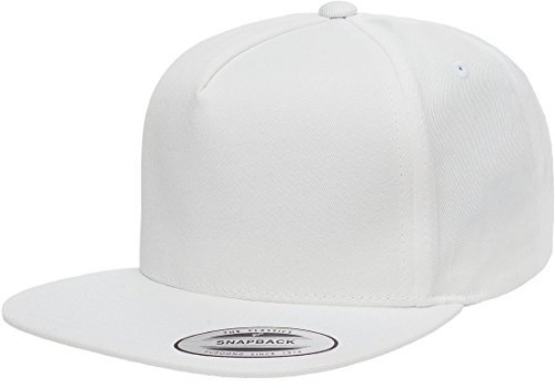 Flexfit/Yupoong 6007,6007T 5 Panel Cotton Twill Snapback Hat Cap (White)