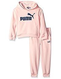 PUMA Girls Girls' Fleece Hoodie Set Sweatsuit