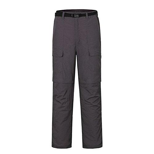 LANBAOSI Men's Outdoor Quick Dry Hiking Pants Convertible Cargo - Short Pants Convertible Mens