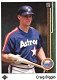 1989 Upper Deck Craig Biggio Rookie Baseball Card #273 - Shipped In Protective Display Case!