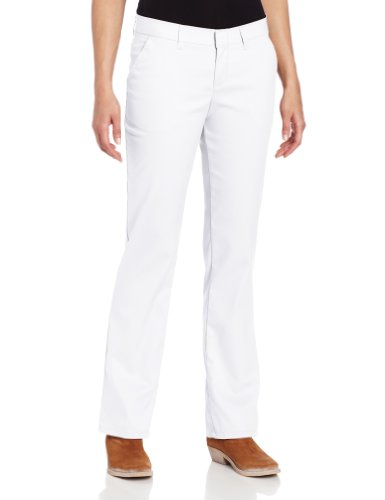 Pant 8 White Dickies Fp221 Frente Flat Mujeres wxqSRP