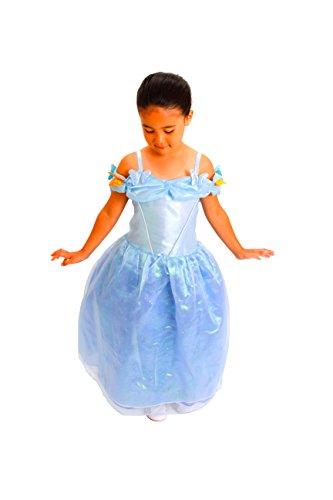 [Cinderella Costume girls Size T (2-4) S (4-6) M (6-8) (M (4-6)] (Cinderella Play Costumes)