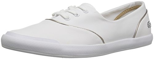 Lacoste Women's Lancelle 3 Eye 316 1 Spw Fashion Sneaker, White, 8 M US