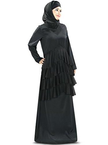 Party abaya Designer moslemische 347 burqa Abnutzung MyBatua schwarze AY formale amp; qUHwwOxS