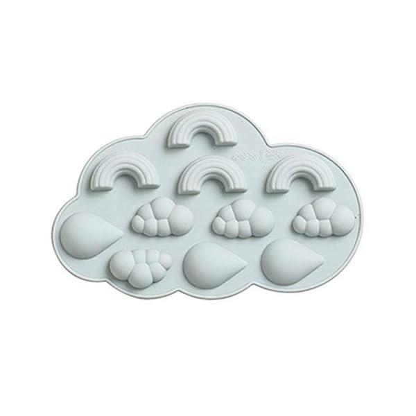 UMTGE - Vaschetta per cubetti di ghiaccio, in silicone e flessibile, 11 vassoi per ghiaccio, per bambini, con caramelle… 1 spesavip