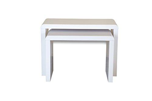 Forzza Jura 2-Set Nesting Tables (White)