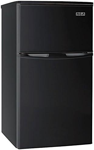 RCA RFR835-Black 3.2 Cubc Foot 2 Door Fridge and Freezer, Black