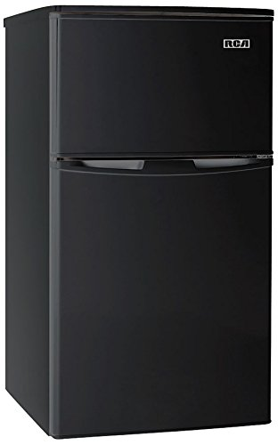 RCA-Igloo 3.2 Cubc Foot 2 Door Fridge and Freezer, Black (24 Refrigerator Bottom Freezer)