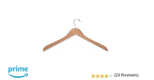 amazoncom honeycando hng01534 wood shirt hanger cedar 5pack home u0026 kitchen
