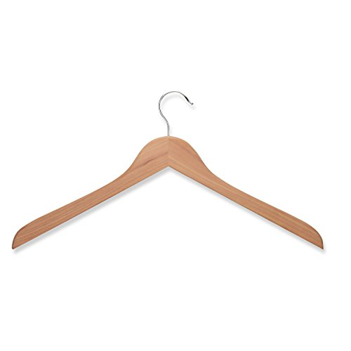 Honey-Can-Do HNG-01534 5 Pack Wood Shirt Hanger- Cedar from Honey-Can-Do