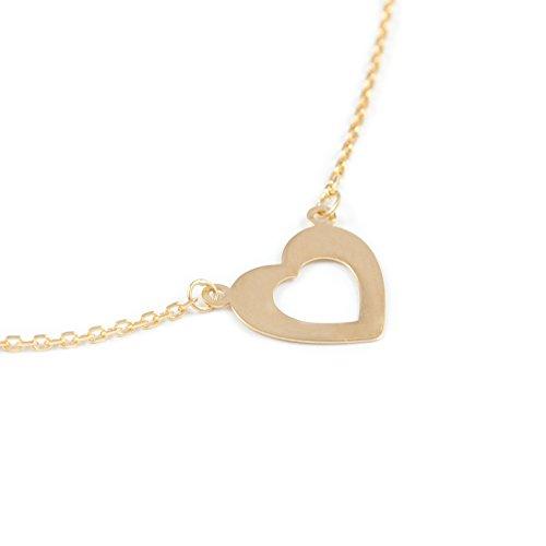 Chaine cœur horizontale Or jaune 18 Carats