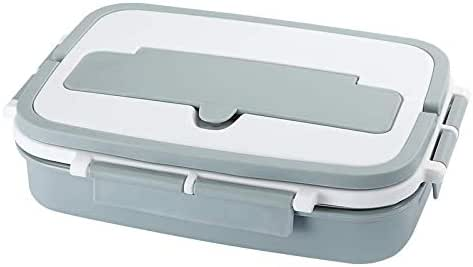 Bento Lunch Box Adult children Double layer heat insulation, using 304 stainless steel inner liner and PP steel, health assured, reusable, 4 large capacity is very convenient, send tableware one sets