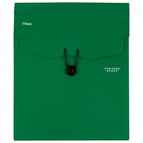 Five Star 5-Pocket Expanding Vertical File, 12.25 x 10.25 Inches, Green (72695) Photo #2