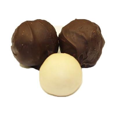 Scott's Cakes Dark Chocolate Covered Plain Marzipan Truffles in a Decorative Box