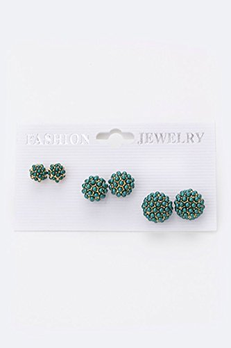 Karmas Canvas Pearl Beaded Ball Studs Set - Outlets Palomar