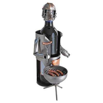 Tailgating Party Wine Bottle Holder or Wine Caddy from H&K Steel Sculpture – 6170-LI