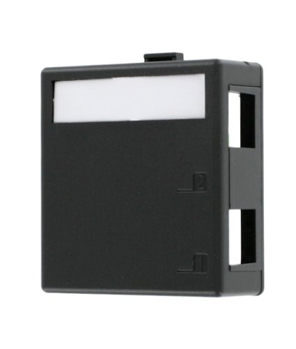 - Leviton 41089-2EP QuickPort Surface Mount Housing, 2-Port, Black, Includes 1 Blank QuickPort Insert