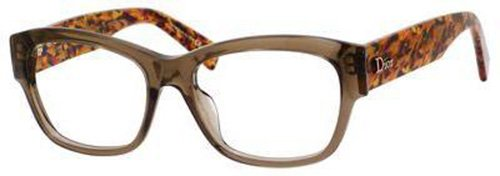 DIOR Eyeglasses 3252 0305 Transparent Brown Honey Tweed - Dior Cat Eye Optical Glasses