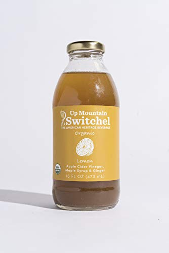 Up Mountain Switchel Beverage, Lemon | All Organic - Fresh Ginger, Maple Syrup and Apple Cider Vinegar | Healthy Sports Drink and Cocktail Mixer (12-pack) (Mineral Water And Lemon To Lower Blood Pressure)