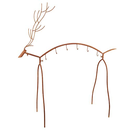 Cheap  ART & ARTIFACT Metal Reindeer Stocking Holder - Standing Holiday Decoration with..