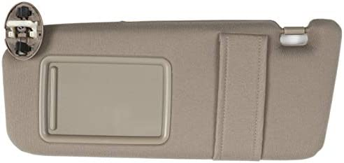 Sun Visor Left Driver Tan Beige for 2007-2011 Toyota Camry with Vanity Light New