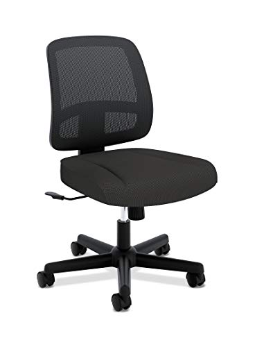 HON ValuTask Task Chair, Mesh Back Computer Chair for Office Desk, Black HVL205
