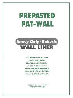 Wall Liner Heavy Duty White Prepasted Wallpaper