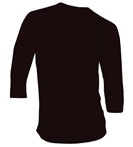 Dream USA Men's Casual 3/4 Sleeve Baseball Tshirt Raglan Jersey Shirt Black/Black Large