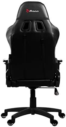 Arozzi Verona V2 Advanced Racing Style Gaming Chair with High Backrest, Recliner, Swivel, Tilt, Rocker and Seat Height Adjustment, Lumbar and Headrest Pillows Included, Black 311E5R2q1ML