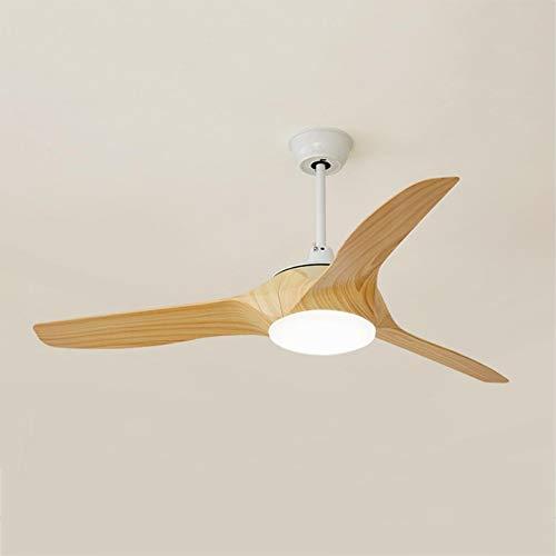 Ceiling fan light Modern Silent, Indoor Metal Energy Saving Wood Color 52inch