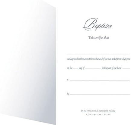 KJV - Baptism Certificate 5x7 folded Package of 6 Full Color Premium