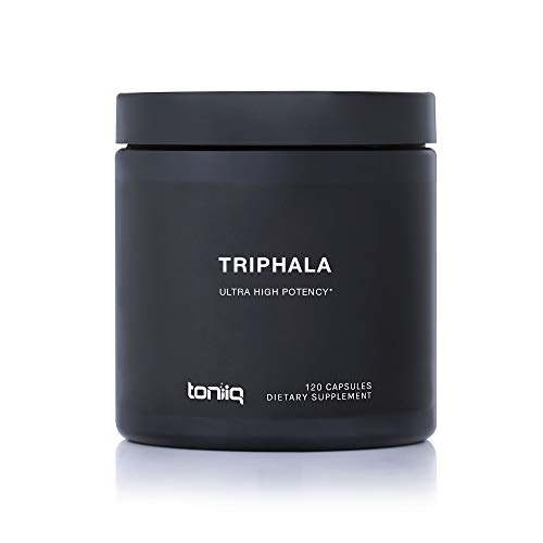 Triphala Capsules (Non-GMO) Super Strength: 50% Tannins Extract - 1200mg - Vegetarian - Optimal Digestive and Detoxification Support - 120 Veggie - Supplements Detoxification