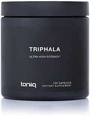 Triphala Capsules (Non-GMO) Super Strength: 50% Tannins Extract - 1200mg - Vegetarian - Optimal Digestive and Detoxification Support - 120 Veggie Caps