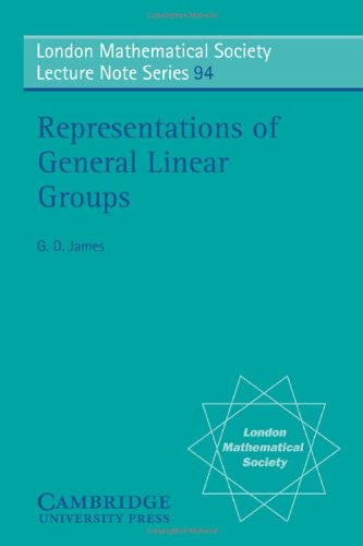 Representations of General Linear Groups (London Mathematical Society Lecture Note Series)