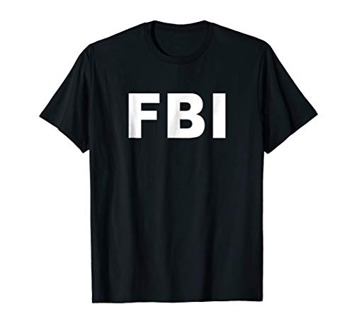 FBI Shirt Halloween Costume Federal Law Enforcement -