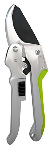 Power Drive Ratchet Anvil Hand Pruning Shears - 5x More Cutting Power Than Conventional Garden Tree Clippers.