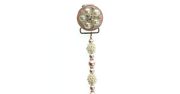 Amazon.com: Dream de vidrio elegante rosa y marfil clásico ...
