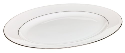 Lenox Tribeca Platinum-Banded Bone China 13-Inch Platter Bone China 13 Oval Platter
