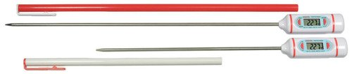 Thermco Digital Lab Thermometer, Long Probe, -58/536F & -50/280C, 12'' Stem by THERMCO