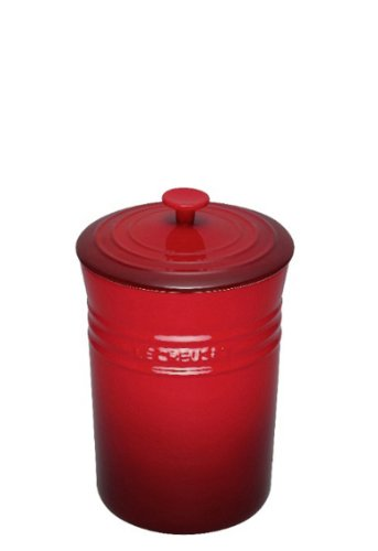 Le Creuset Stoneware Medium 14-Ounce Spice Jar, Cherry