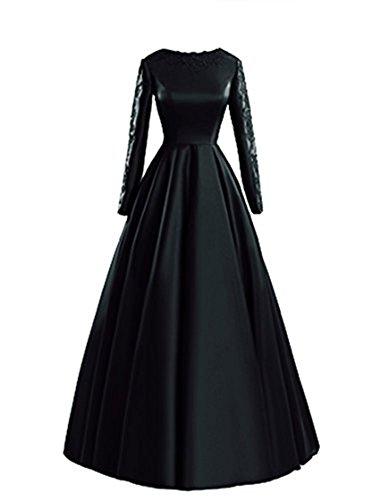 Trägerlos Abend Party Kleid Kleid Lange Damen Schwarz Kleid emmani 4qzw6n