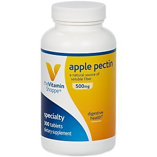 - Apple Pectin 500mg A Natural Source of Soluble Fiber, Supports Digestive Health Promotes Regularity Dairy, Gluten Soy Free Tablet (300 Tablets) by The Vitamin Shoppe